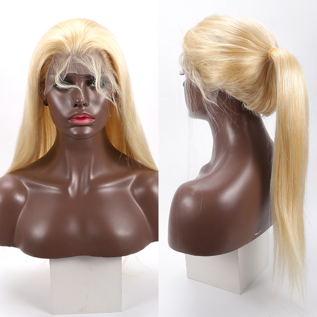 30 inch HD Transparent 613 Blonde Lace Front Wigs Glueless Lace Frontal Wig