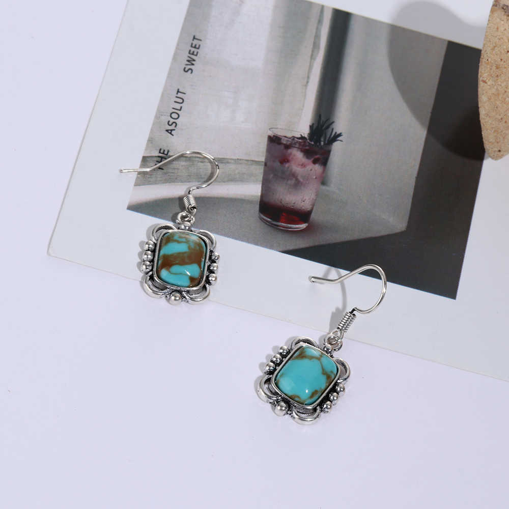 1 Pair 925 Sterling Retro Thai Silver Hook Dangle Stud Vintage Earring Party Gifts Ethnic Women Jewelry