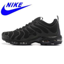 Original NIKE AIR MAX PLUS TN ULTRA Men's Running Shoes, Black, Wear-resistant Shock-absorbing Breathable Non-slip 898015 002(China)