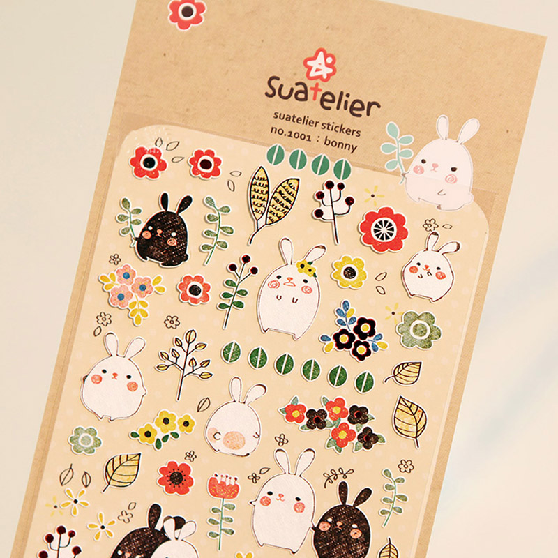 1 x SONI Bonny Rabbit paper sticker DIY decorative sticker for album scrapbook kawaii stationery diary sticker