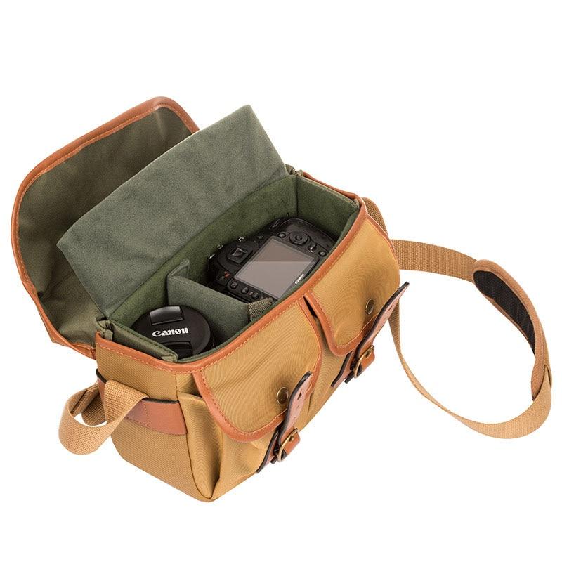 CADEN nouveau sac à bandoulière pour appareil photo reflex numérique Vintage sac à bandoulière pratique en tissu Oxford pour Canon Nikon Sony étanche Fa