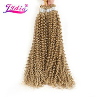 Lydia Bohemian Braids Hair Extension Curly Crochet Hair 14 3PCS Pure Color Kanekalon Bulk Synthetic Braiding