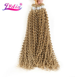 "Image 1 - Lydia Bohemian Freetress Haarverlenging Gehaakte Vlecht Haar 14 ""3 STKS Pure Kleur Kanekalon Bulk Synthetische Vlechten Haar Afro Kinky"