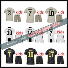 6deda026b03 2019 2018 top Quality RONALDO kids JUVENTUSES Soccer Jerseys kit 18 19 JUVE  Dybala Home Away Third Football Shirt kit