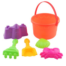 SLPF 1 Set New Children Beach Kids Bucket Shoveling Mold For Sand Castle Building Plastic Play Bebe House Game Toys Summer G11 цены онлайн