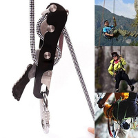 Max. 150 Kg Load Rappelling Climbing Stop Descender Self Braking Rope 10 12mm Strong Mountaineering Durable Climbing Accessories