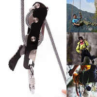 Max. 150 Kg Load Rappelling Climbing Stop Descender Self-Braking Rope 10-12mm Strong Mountaineering Durable Climbing Accessories