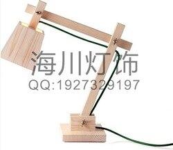Изготовленные на заказ Настольная лампа с деревянным основанием современный минималистический скандинавский стиль деревянная лампа
