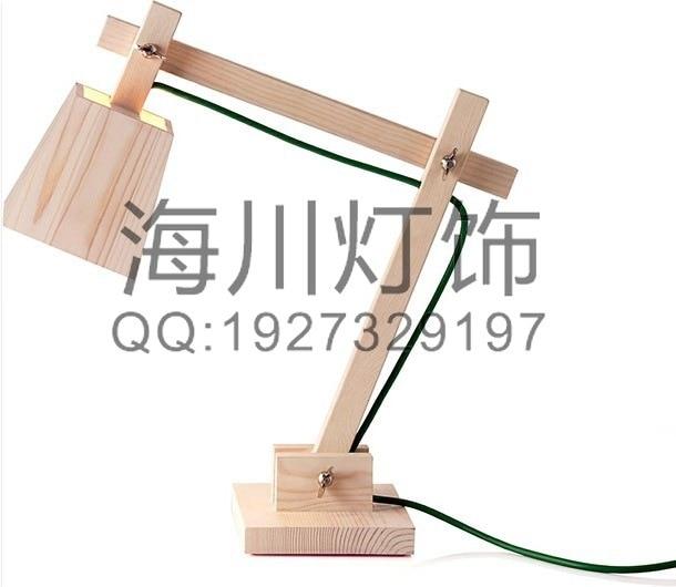 Manufacturers custom wood table lamp modern minimalist Scandinavian style wooden arm lamp custom engineering shaped chandelier manufacturers