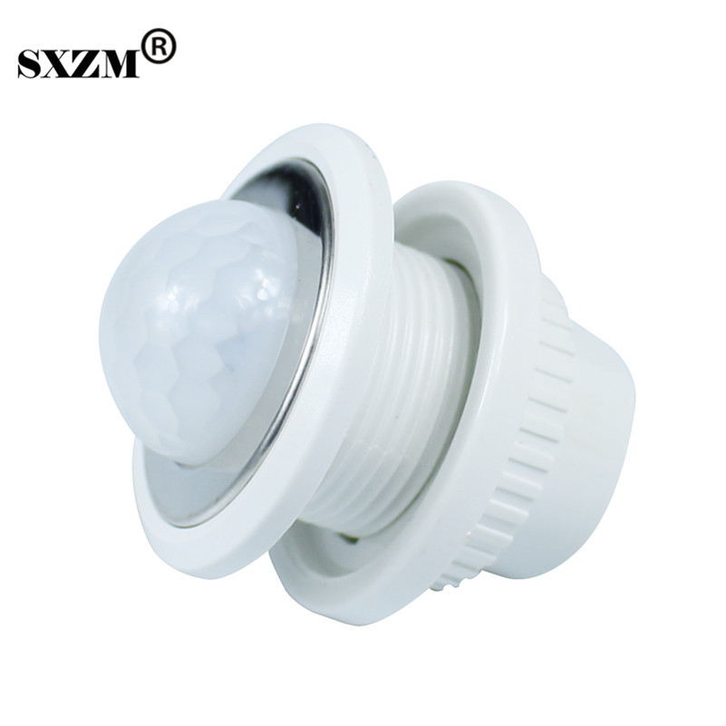 SXZM 5pcs/Lot 3005 26mm PIR Infrared Ray Motion Sensor Switch time delay adjustable mode detector switch Emergency light
