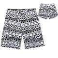 2017 ama de Secado rápido Hombres y Mujeres Cortocircuitos de la Marca de Verano ropa casual pantalones cortos geométricas hombres sea junta beach shorts negro blanco