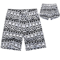 2017 loves Quick Dry Men and Women Shorts Brand Summer Casual Clothing Geometric Shorts Men's Sea Board Beach Shorts black white