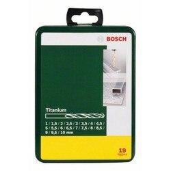 BOSCH 2607019437 zestaw DIY 19 wiertła do metalu HSS titanium wydajność
