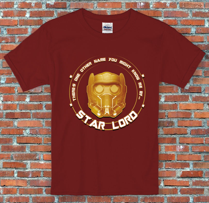 Star Lord Helmet Guardians of the Galaxy Marvel Inspired T Shirt New Brand-Clothing T Shirts top tee