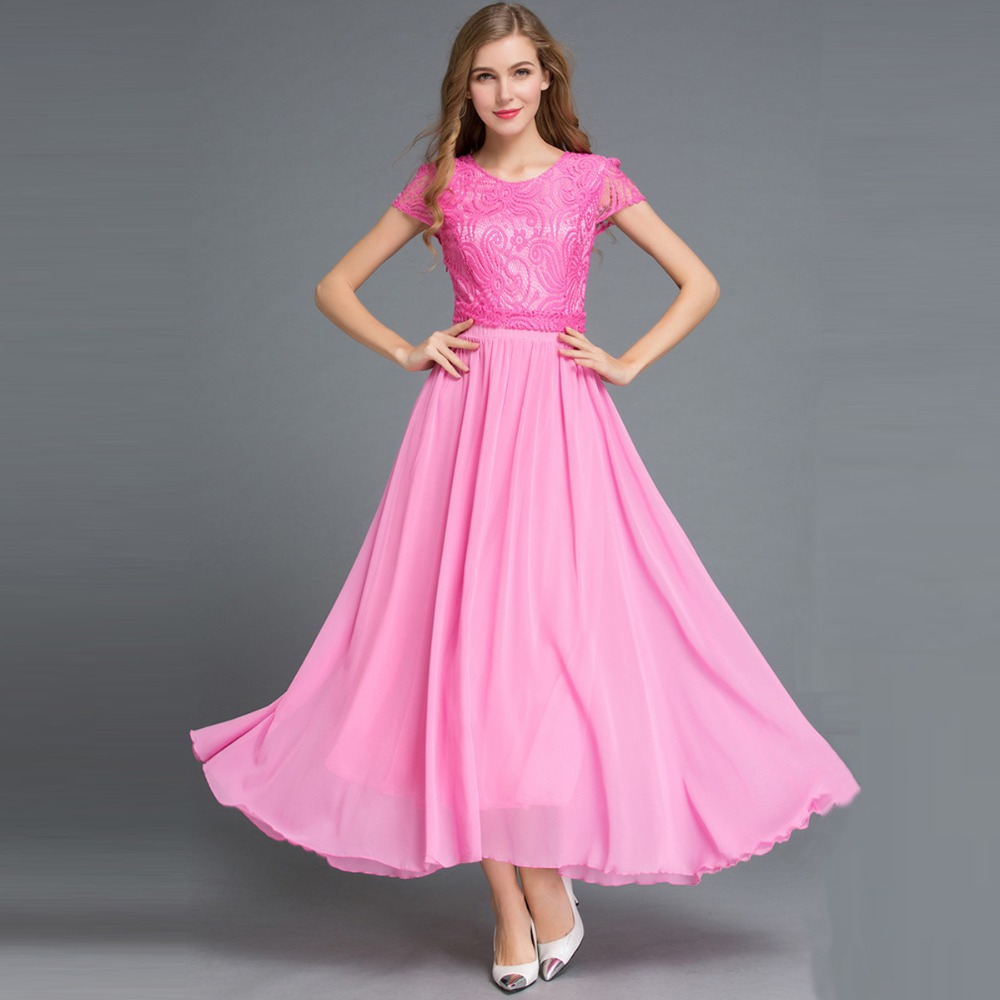 Summer Women' Chiffon Pink Dress