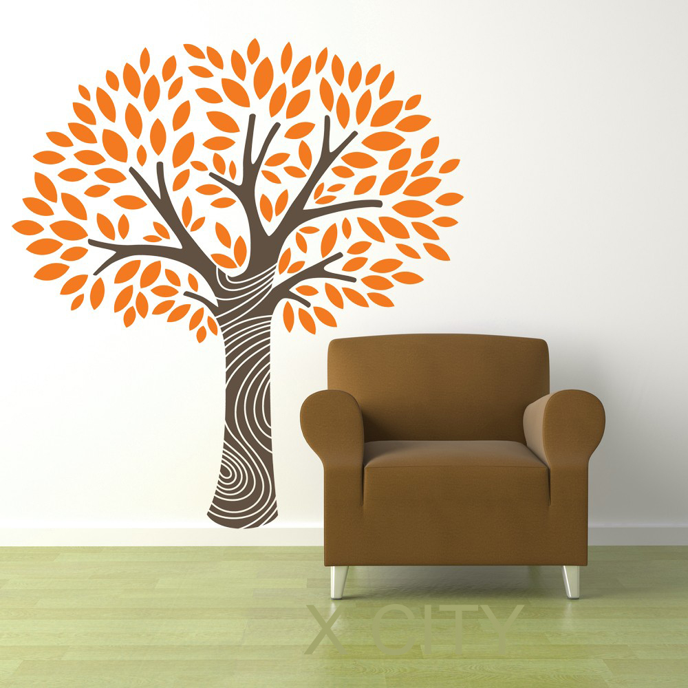 online get cheap plane tree leaf aliexpress com alibaba group magic tree with leaves and swirled trunk wall art sticker vinyl decal room stencil mural home