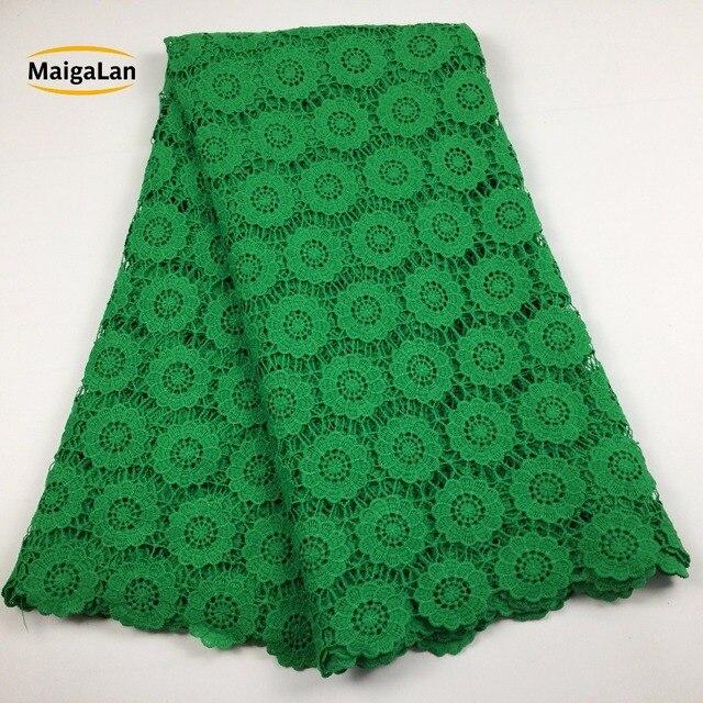 MAIGALAN tissu de haute qualité en dentelle nigériane, tissu de haute qualité en dentelle nigériane, 100% coton/cordon guipure pour fête de mariage, SML788 02