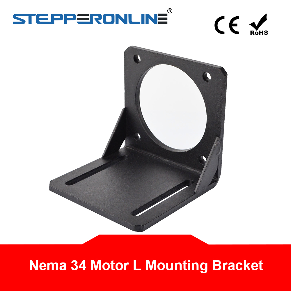 <font><b>Nema</b></font> <font><b>34</b></font> <font><b>Mounting</b></font> Bracket Alloy Steel <font><b>Nema</b></font> <font><b>34</b></font> 86mm Stepper <font><b>Motor</b></font> Bracket for Stepper <font><b>Motor</b></font>/3D Printer image