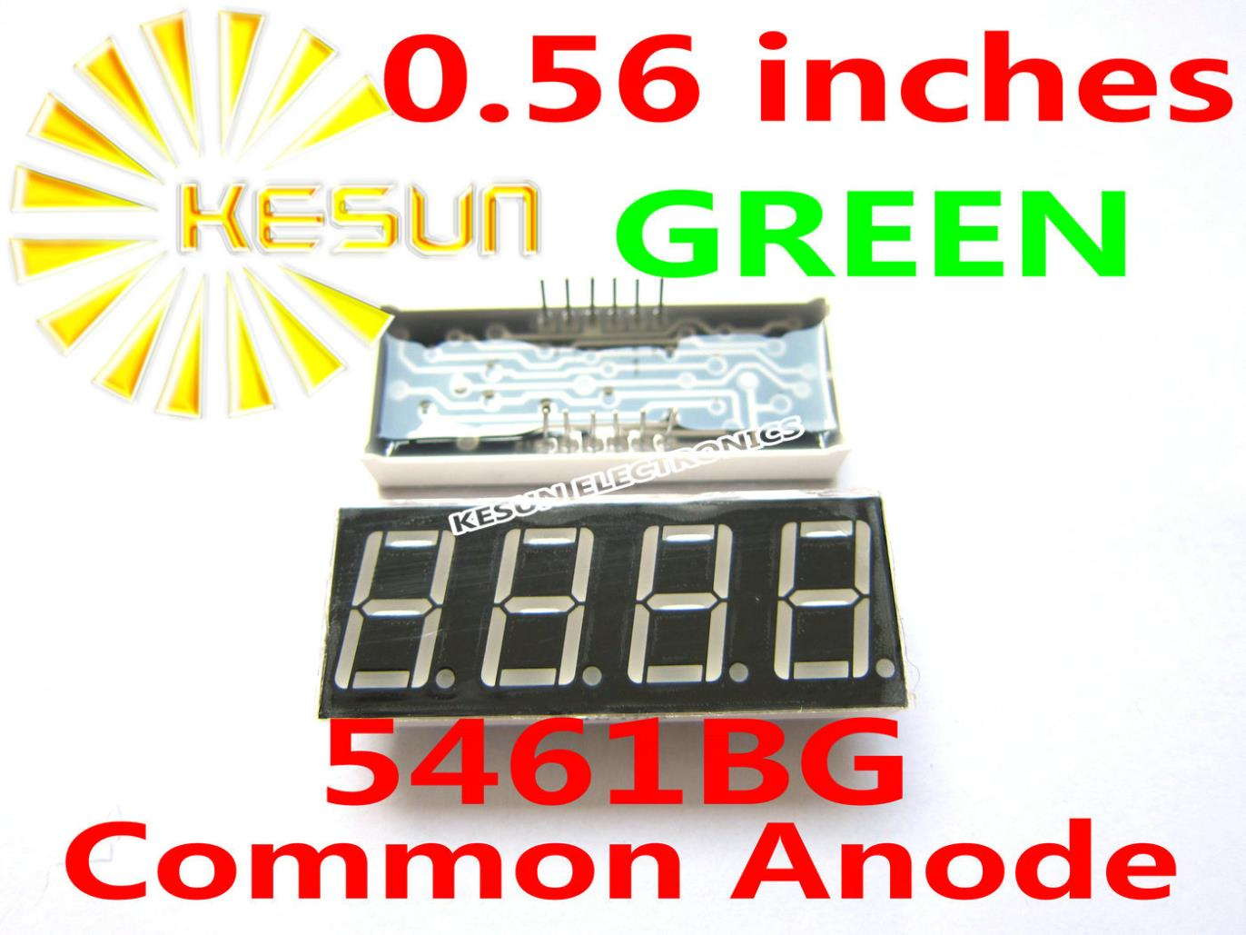 5PCS X 0.56 Inches Green Red Common Anode/Cathode 4 Digital Tube 5461BG 5461AG 5461AS 5461BS LED Display Module