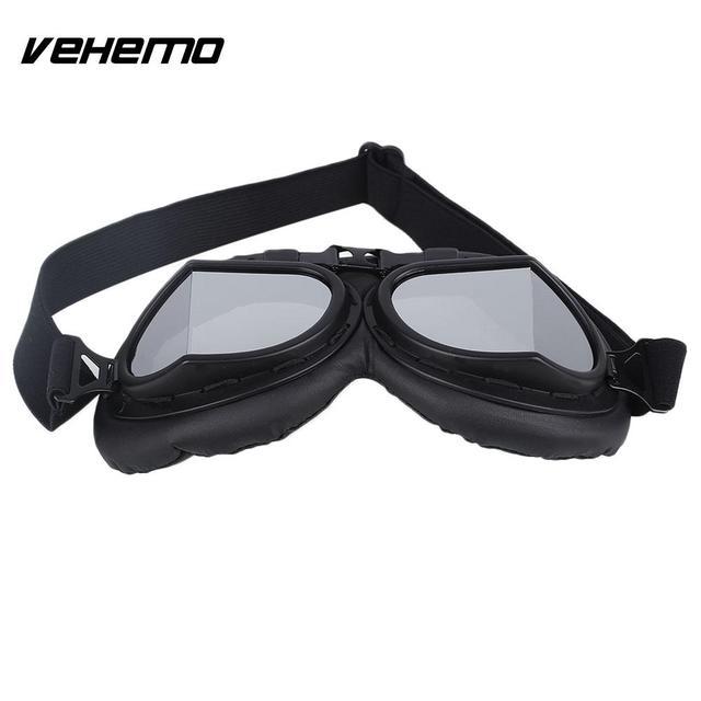 Vehemo Noir Moto Vélo Lunettes Lunettes Protection Des Yeux de Sécurité  Réglable 630242ba362f