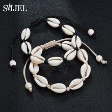 a63fe362fea6 SMJEL conchas naturales de la pulsera para las mujeres Hawaiano Casual de  cuero hecho a mano pulseras brazaletes nativo american.