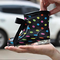 13.5-17.5cm Rubber Baby Rain Boots for Girls and Boys Shoes Cute Skull Leopard Dots  Children Kids boots Rain 180