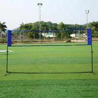 US ship Outdoor Sports Tennis Badminton Net Blue Rack Quickstart Outdoor Simple Tennis Rack Volleyball Training Square Mesh Net