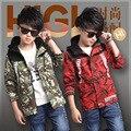 2016 Autumn boy camouflage windbreaker jacket children's clothing fashion comfortable fabrics coat