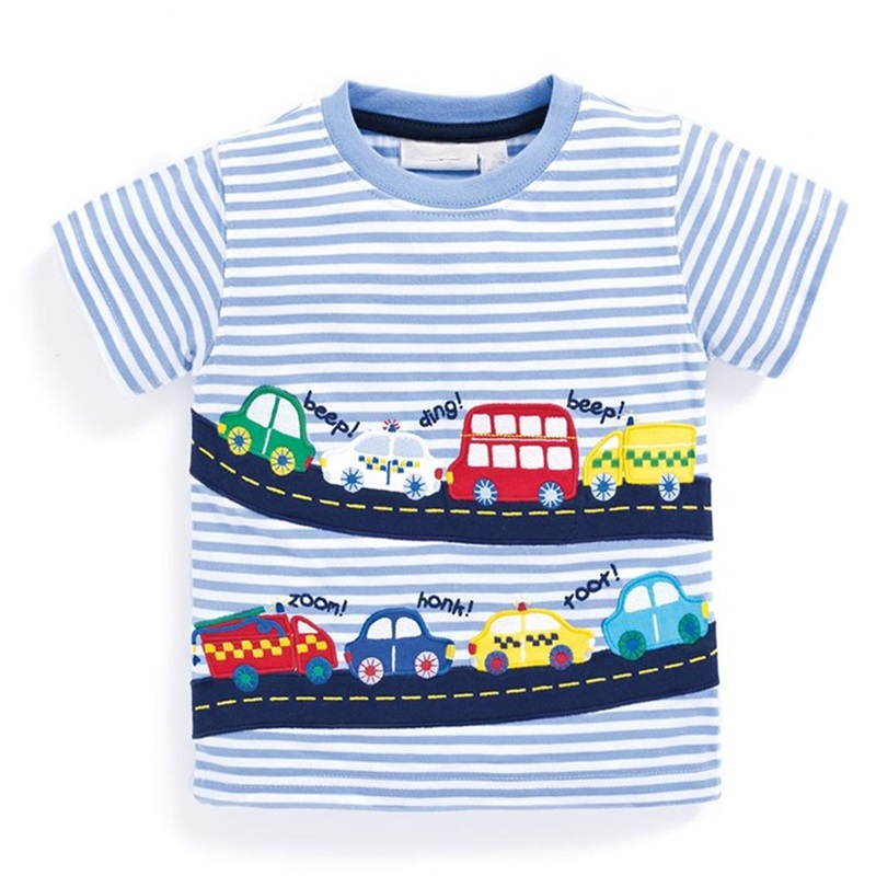 Boys T Shirt 100% Cotton Boys Short Sleeve Shirts for Children Clothing Print Character Kids T-shirt Enfant Garcon Boys Clothes