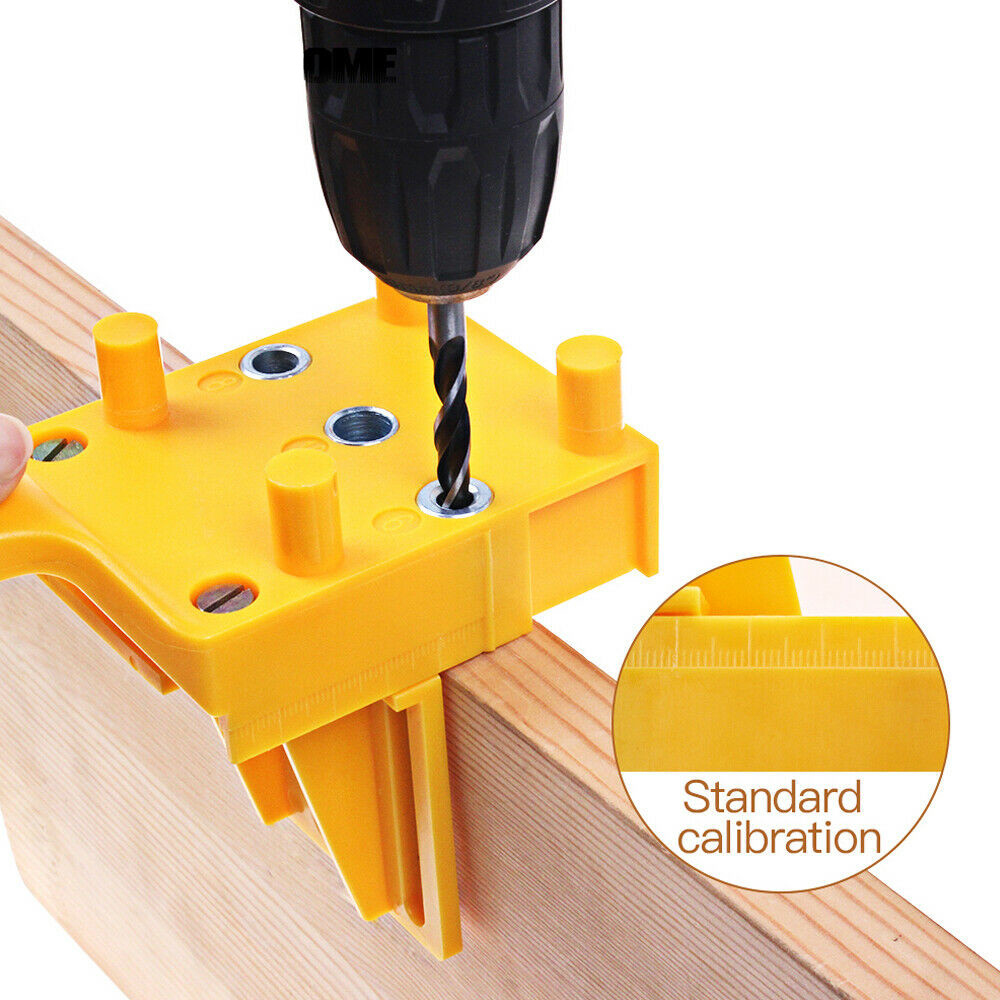 Standard Doweling Jig Drill Guide Plastic Pocket Hole Saw Handheld Wood Doweling Self-Centering Punch For Carpentry Tool Locator
