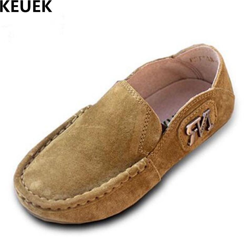 New Spring/Autumn Children Shoes Genuine Leather Slip-On Loafers Boys Casual Flats Baby Kids Leather Shoes Dress Student 02