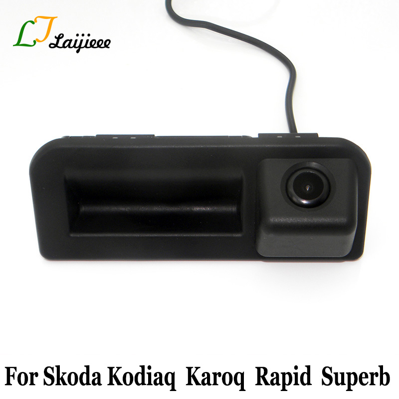 For Skoda Kodiaq Karoq Kamiq Rapid Superb Fabia 3 2017 2018 2019 Car Reverse Camera / Auto Trunk Handle Parking Rear View Camera
