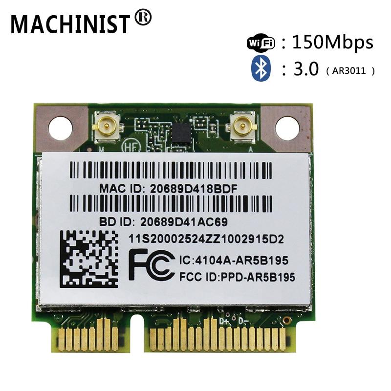 Wireless Network Cards Bluetooth For  Lenovo Y470 Y570 Y480 Y580 G480 G580 G585 Z380 Z480 AR5B195 Laptop Network Card 20002524