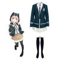 Super DanganRonpa Dangan Ronpa 2 Chiaki Nanami Uniform Cosplay Costume School Uniform Full Set Fancy Party Dress Custom Made