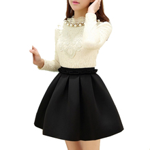 Women Bottoming Skirt Cotton Pleated Big A-line Tutu Ball Gown Empire Solid Above Knee Mini Skater Skirts