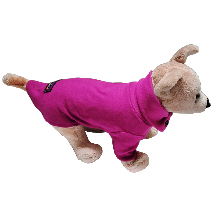 New Lapel Cotton Pet Dog T-shirt Vest Clothing For Puppy Dog Small Dogs Cat Four Seasons Clothing From S To Xl