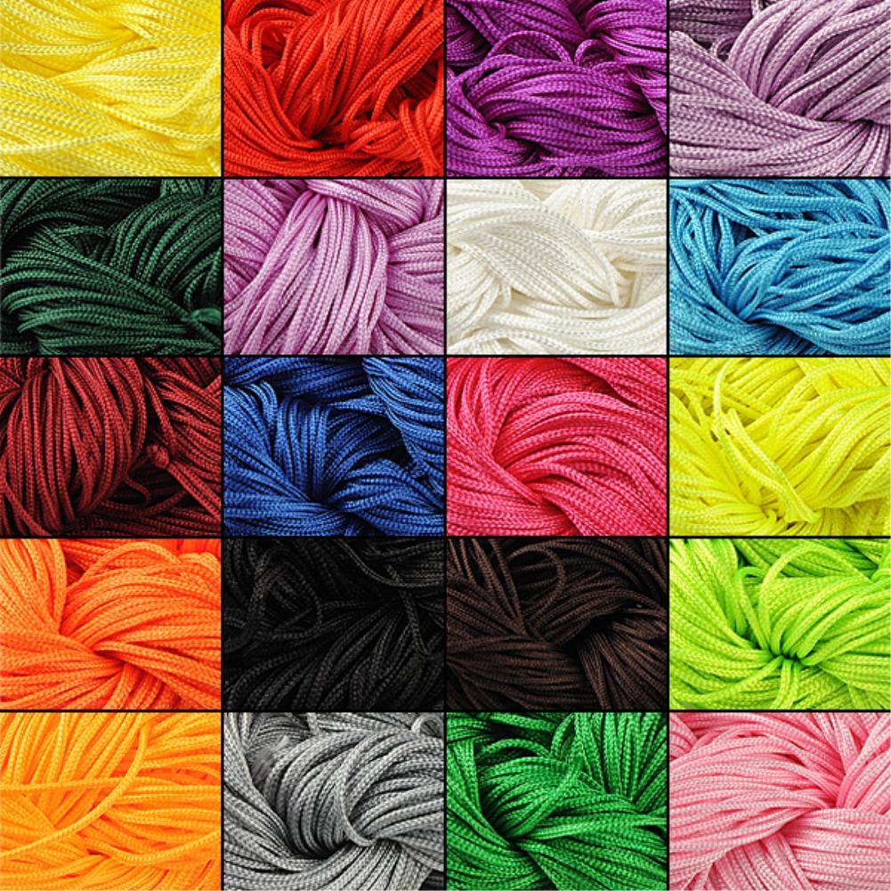 246 1 pc Nylon Cord Thread Chinese Knot Macrame Rattail 1mm*24M Shamballa Rope