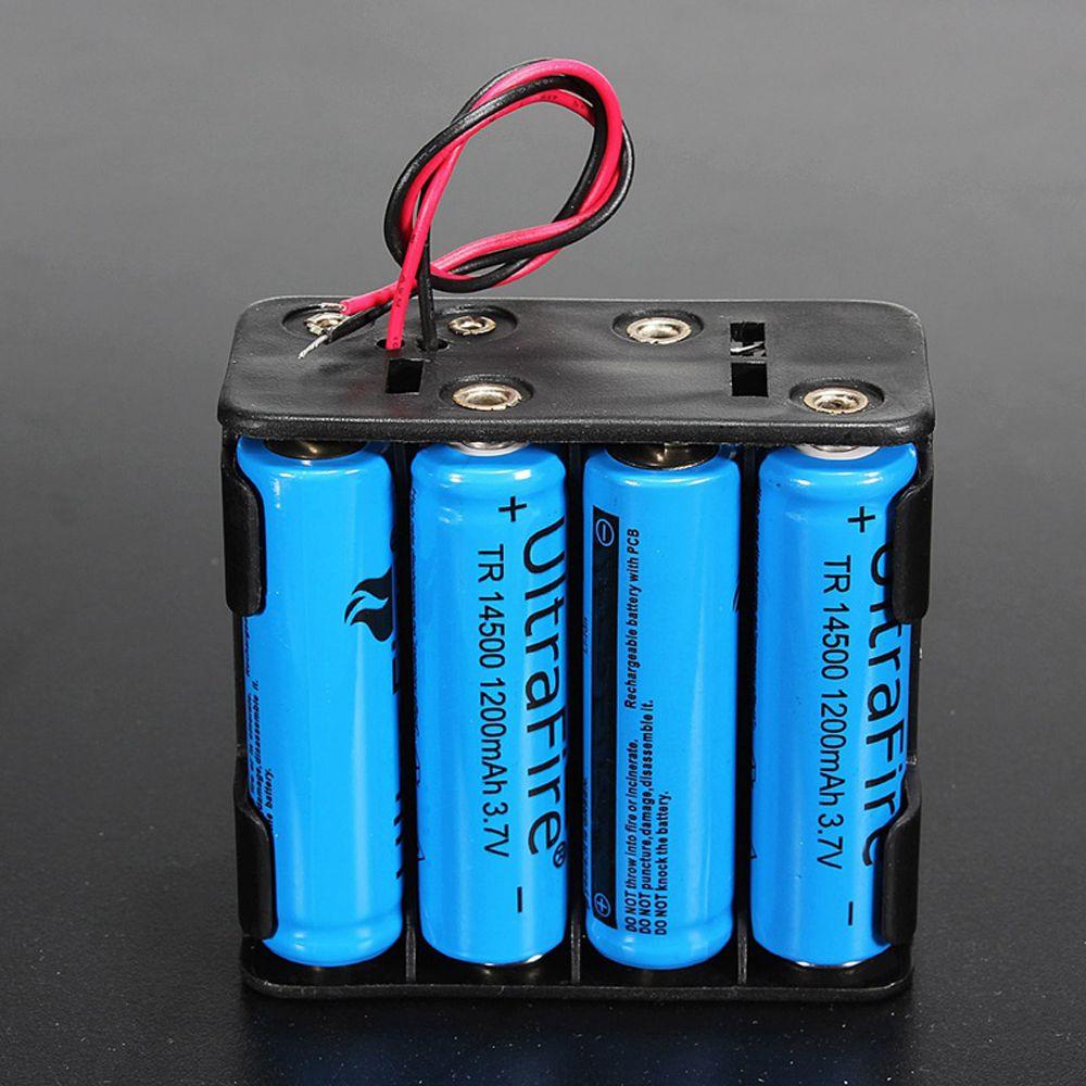 Горячая батарея держатель Чехол 12 Вольт 12 В батарея клип Слот держатель для хранения коробка чехол 8 AA батареи стек 6 проводов провода