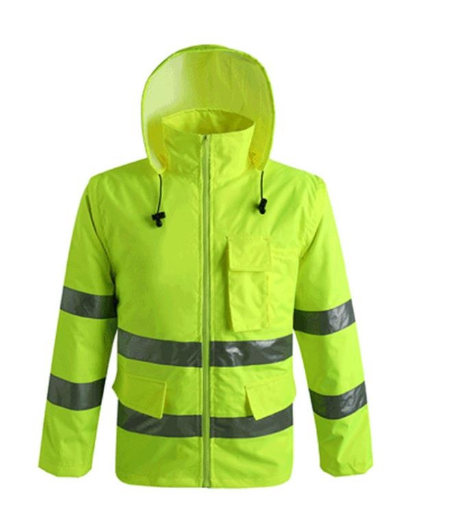 Thicken Raincoat Reflective Safety Coat Warning Clothing