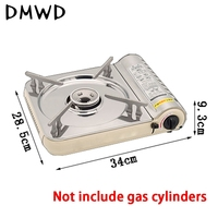 Portable Camping Picnic Backpacking Gas Stove 2500W Gas Stove Stainless Steel Outdoor Portable Picnic Gas Stove with a Case