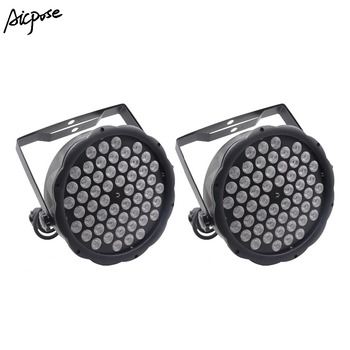 2Pcs/lots 54x3w Led Par Light RGBW Colorful 54*3W Par LED Wall Washer Disco Light With DMX Controll Stage Effect Lighting