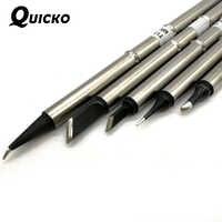 QUICKO 5 PCS di Alta qualità del grado punte di ferro di Saldatura XA T12-J02 K KU ILS BC2 Saldatura del Ferro di Saldatura testa comunemente utilizzato riparazione cellulare