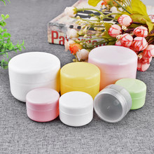 5pcs/lot 20/30/50g Plastic Storage Case Cream Jar Cosmetic Packaging Box Empty Jar Pot Eyeshadow Makeup Face Cream Container(China)
