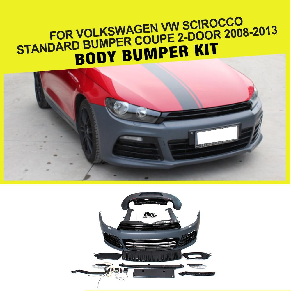 PP Unpainted Grey Car Body Kits for Volkswagen VW Scirocco Coupe 2008-2013
