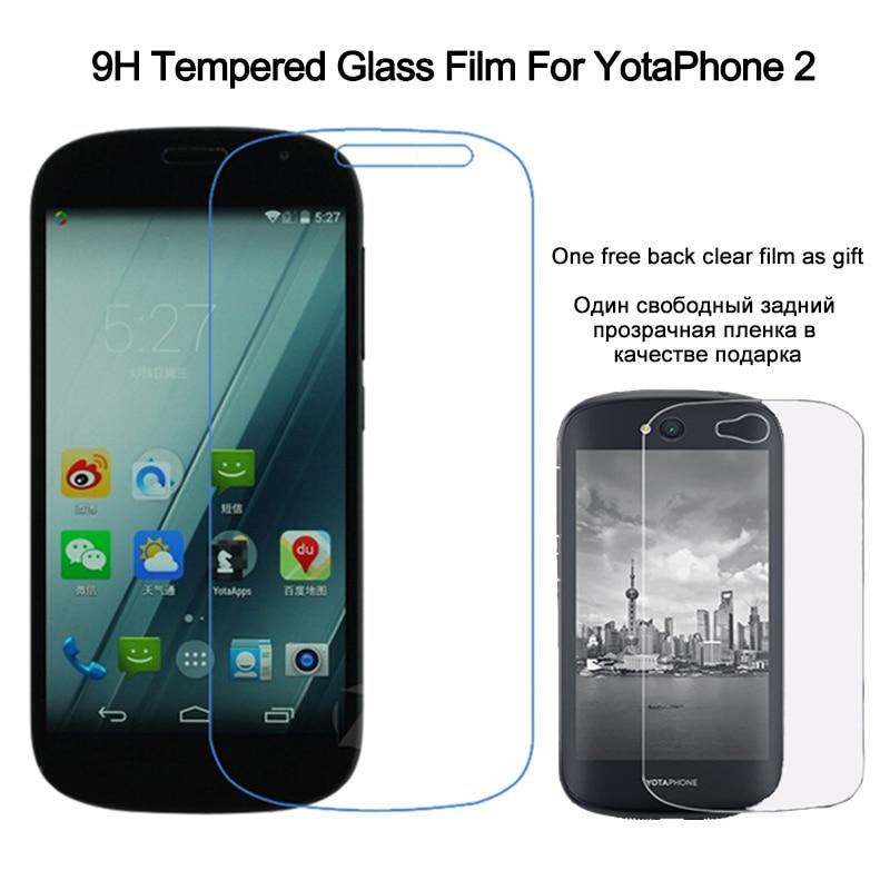 för Yota Phone 2 skärmskydd härdat glas för YotaPhone 2 9H 2.5D Arc Edge Anti-Scratch härdat skyddsfilm