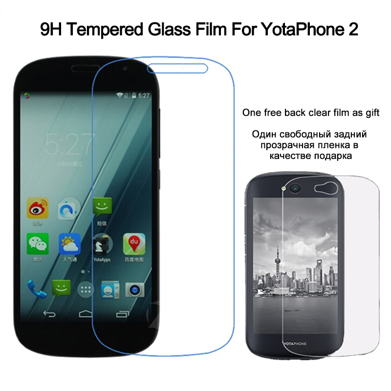 para Yota Phone 2 Protector de pantalla Vidrio templado para YotaPhone 2 9H 2.5D Arc Edge Película protectora templada antiarañazos
