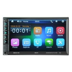 Image 2 - 7902 7 дюймовый сенсорный экран многофункциональный плеер автомобиля mp5 плееры, BT hands free, FM радио MP3/MP4 плееры USB/AUX