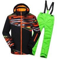 2017 зима мальчик Лыжный костюм Для мужчин открытый Водонепроницаемый длинные ветровки Брюки для девочек Восхождение Снег Лыжный Спорт Одеж