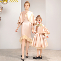 Mother Daughter Dresses Pink Long Sleeve Vestidos Mother And Daughter Clothes Mom And Daughter Dress Family Matching Clothes