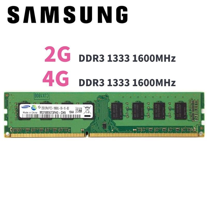 Samsung PC Mémoire RAM Memoria Module Ordinateur De Bureau 2 gb 4 gb DDR3 PC3 10600 12800 1333 mhz 1600 mhz 2g 4g 1333 1600 mhz